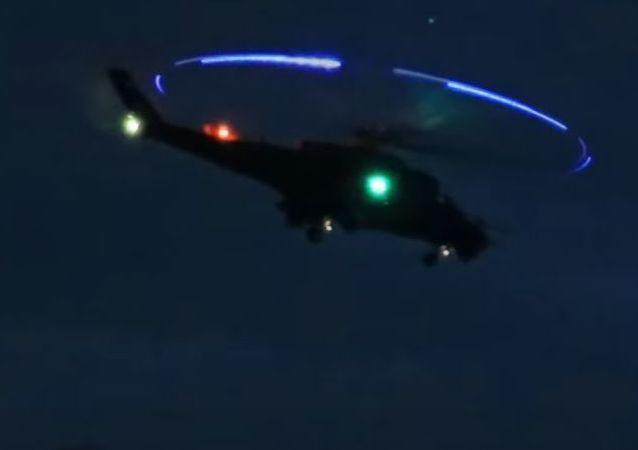 Despegue nocturno de los Mi-24 húngaros