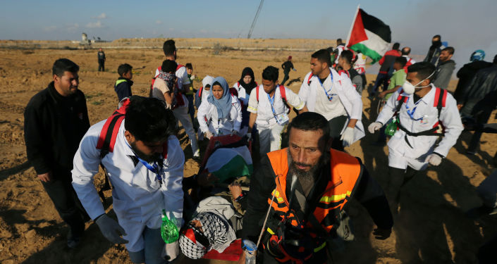 Protestas en la Franja de Gaza (archivo)