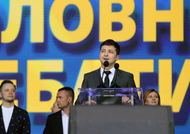 Volodímir Zelenski, presidente electo de Ucrania (archivo)
