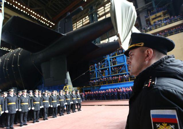 La botadura del submarino Belgorod