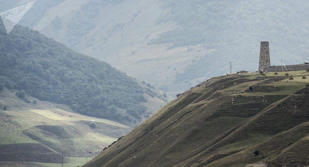 Un paisaje de Osetia del Norte