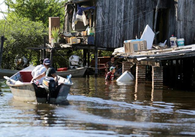 Inundación en Paraguay
