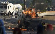 Disturbios en Venezuela el 30 de abril de 2019, el día que el opositor Juan Guaidó lideró la escaramuza contra el presidente Nicolás Maduro en el marco de la llamada 'Operación Libertad'