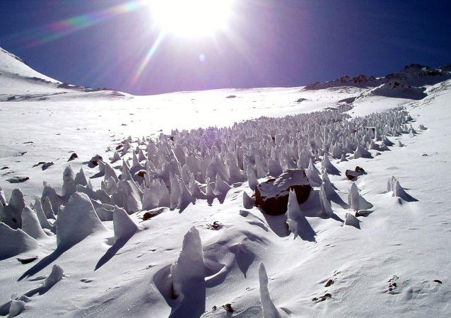 El Aconcagua, provincia de Mendoza, Argentina