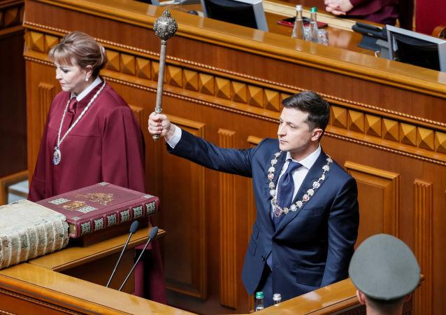 La investidura de Volodímir Zelenski, presidente electo de Ucrania