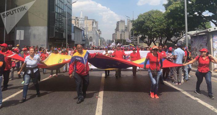 Movilización chavista en Caracas (archivo)