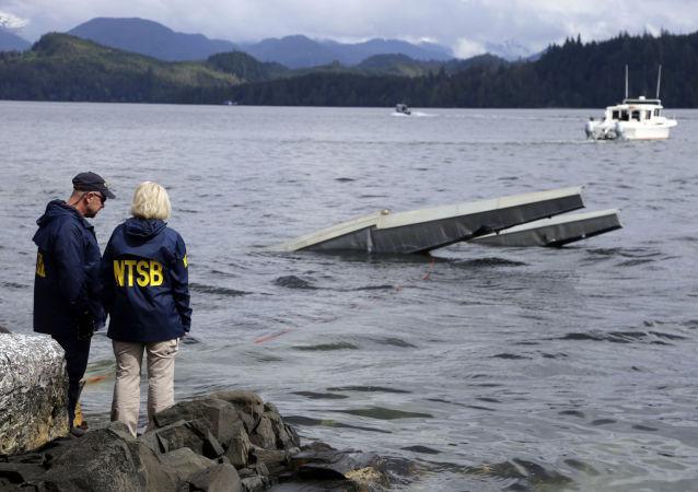 Lugar del siniestro de un hidroavión Beaver en el estado estadounidense de Alaska