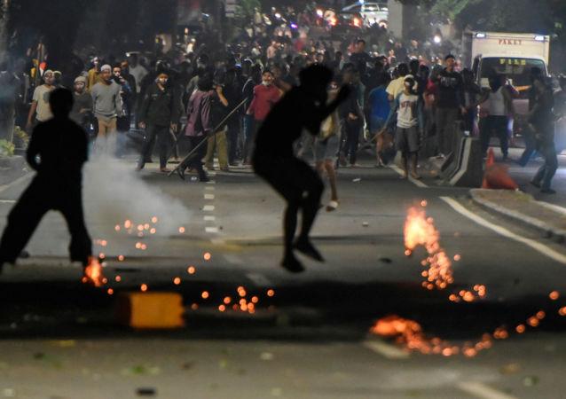 Protestas en Indonesia