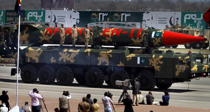 Misil pakistaní Shaheen-II (archivo)