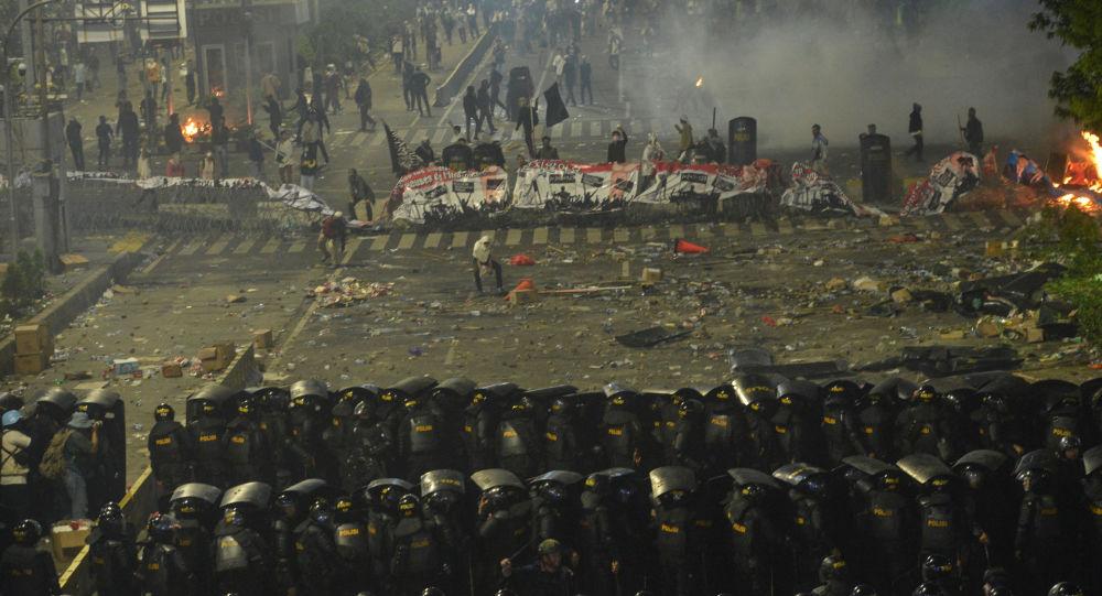 Protestas en Yakarta, Indonesia