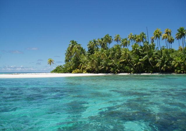 Vista del atolón Salomon, en Chagos