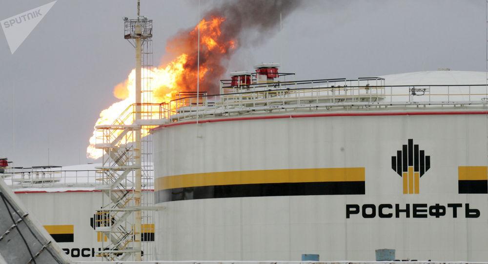 Un yacimiento petrolero en Rusia