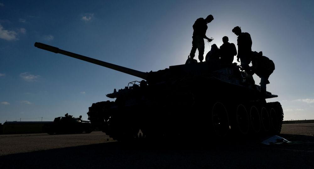 Los soldados en Libia