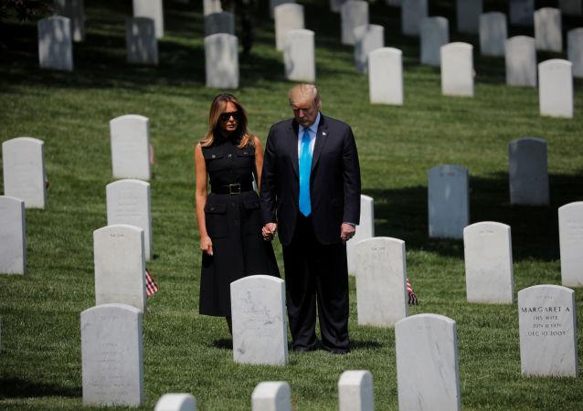 El presidente de EEUU, Donald Trump, y la primera dama, Melania Trump