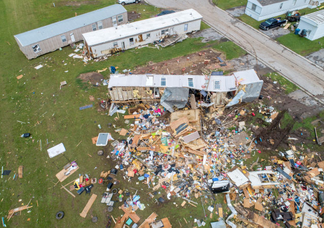 Las consecuencias tras el tornado en Oklahoma, EEUU