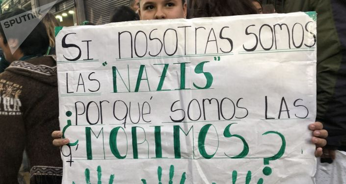 Apoyo a la presentación por octava vez del proyecto de legalización del aborto en Argentina