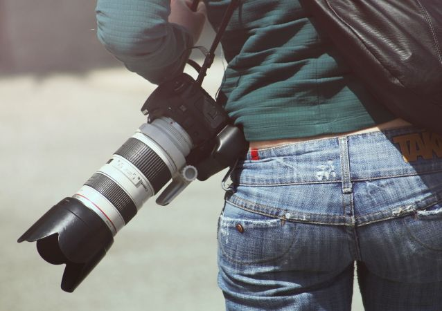 Una fotógrafa (archivo)