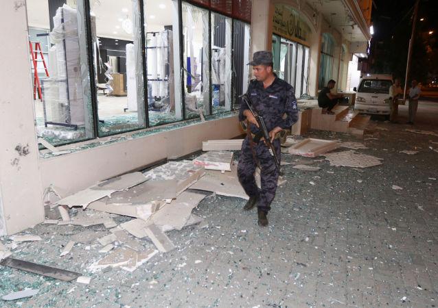 Lugar de atentados en Kirkuk, Irak