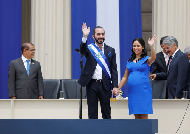 Nayib Bukele tras su investidura como presidente de El Salvador, 1 de junio de 2019
