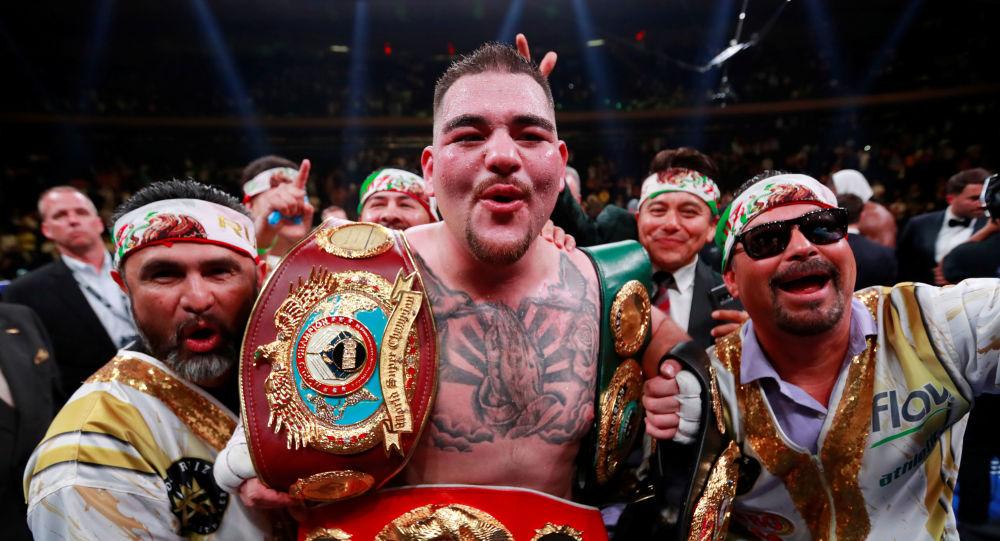 Andy Ruiz, triple campeón de peso pesado, tras la pelea con Anthony Joshua en Nueva York