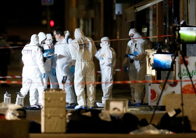 Lugar de la explosión en Lyon, Francia