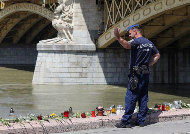 El lugar del naufragio en Budapest