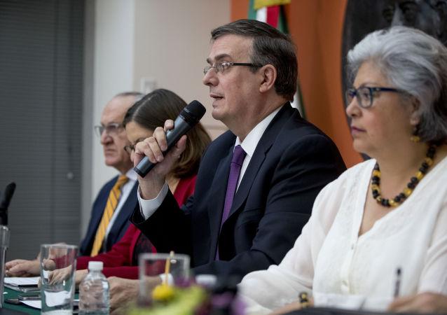 Una misión oficial mexicana encabezada por el canciller Marcelo Ebrard en Washington