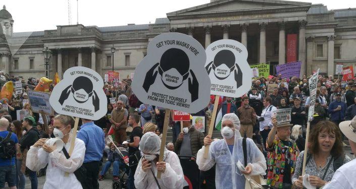 Protestas contra Trump en Londres, Reino Unido