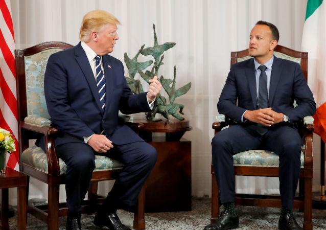 El presidente estadounidense, Donald Trump, y el primer ministro irlandés Leo Varadkar
