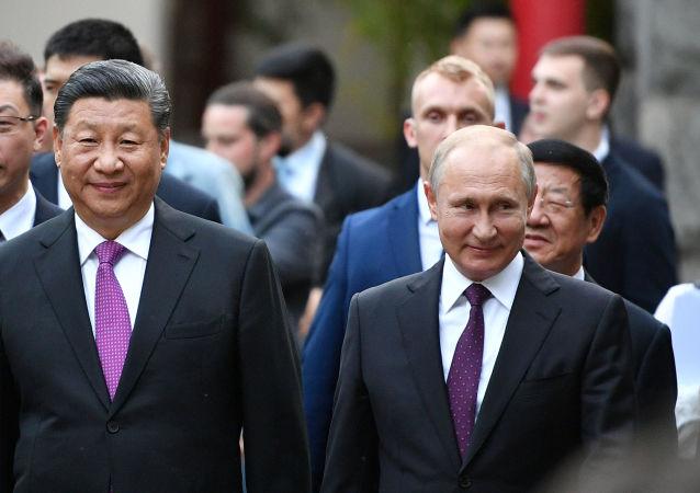 El presidente ruso, Vladímir Putin, y su homólogo chino, Xi Jinping, en el zoo de Moscú