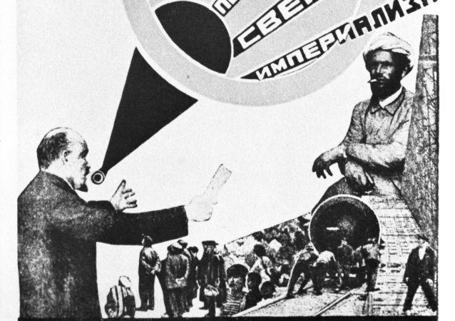 Cartel propagandístico del artista soviético Alexandr Ródchenko (imagen referencial)