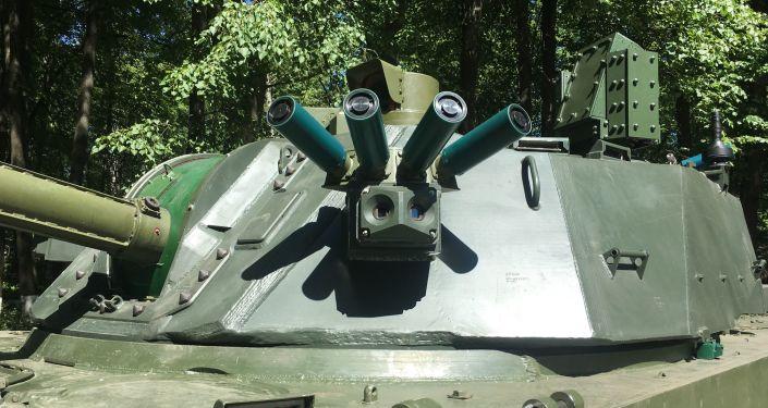 Sistema de protección del cañón autopropulsado ruso 2S42 Lotos