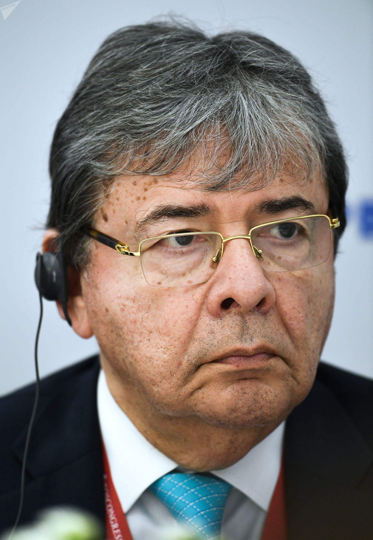 Jefe de la diplomacia colombiana, Carlos Holmes Trujillo_