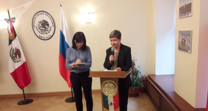 La embajadora de México en Rusia, Norma Pensado