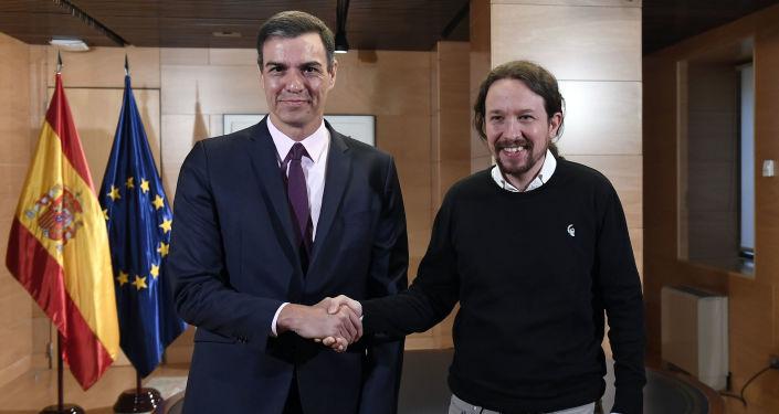 Los líderes del PSOE, Pedro Sánchez, y de Podemos, Pablo Iglesias