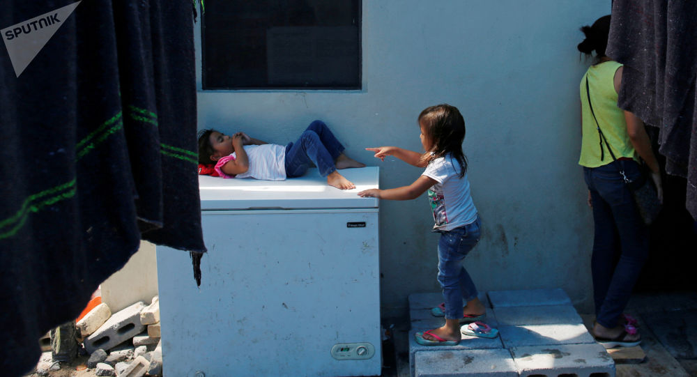 Niños migrantes en el norte de México (archivo)
