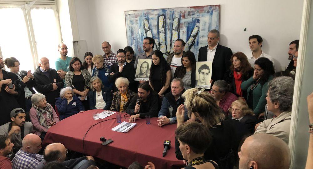 La conferencia de prensa del nieto 130 recuperado, en la sede de Abuelas de Plaza de Mayo