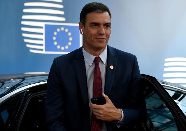 El líder del Partido Socialista Obrero Español (PSOE) y actual presidente en funciones, Pedro Sánchez