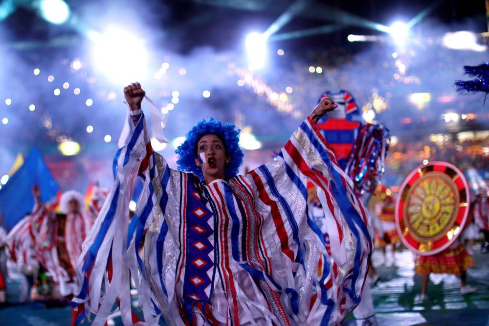 Artista durante la ceremonia de inauguración de la Copa América 2019