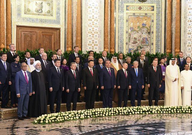 Los líderes de los países que participan en la Conferencia de Interacción y Medidas de Confianza en Asia (CICA)