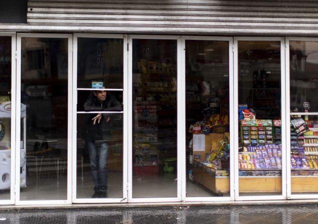 Una tienda en Argentina sin luz durante el apagón del 16 de junio