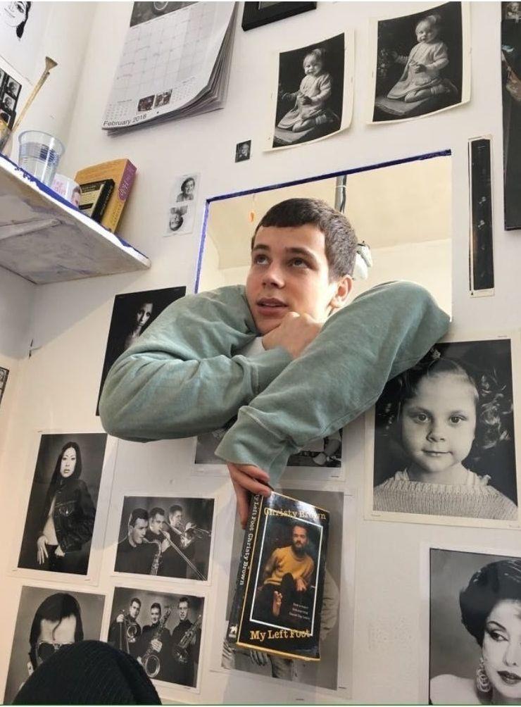Foto de Alberto en la Fundación Working Men College donde estudió el último año