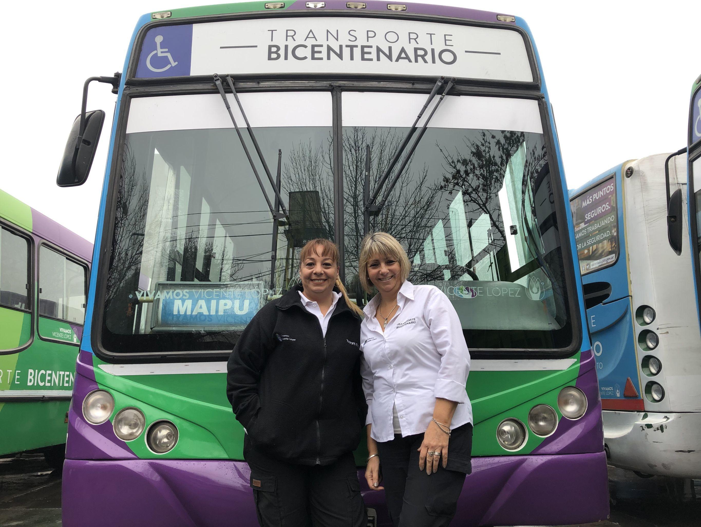 En la línea Bicentenario de la municipalidad de Vicente López solamente manejan mujeres, una rareza en el transporte colectivo de Argentina