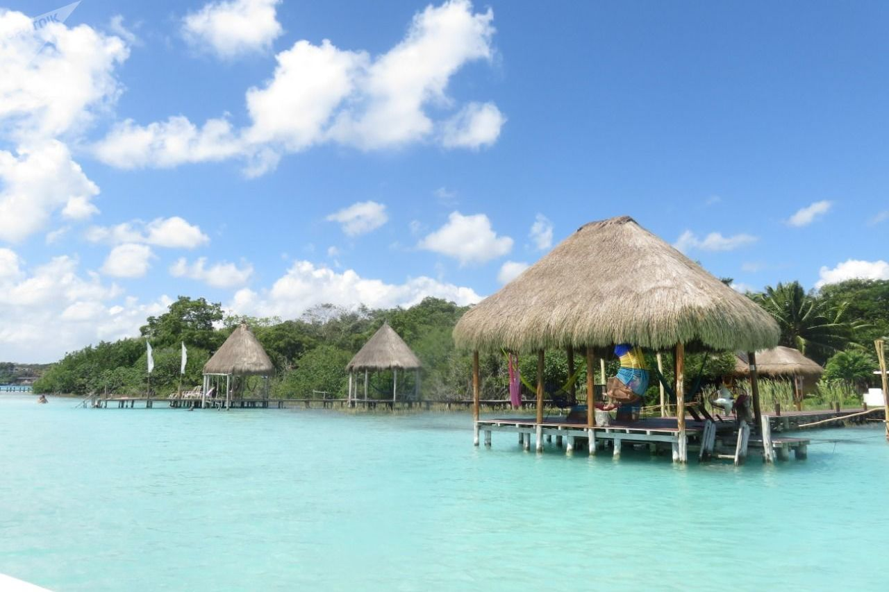 La paradisíaca Laguna de los Siete Colores, en Quintana Roo, México