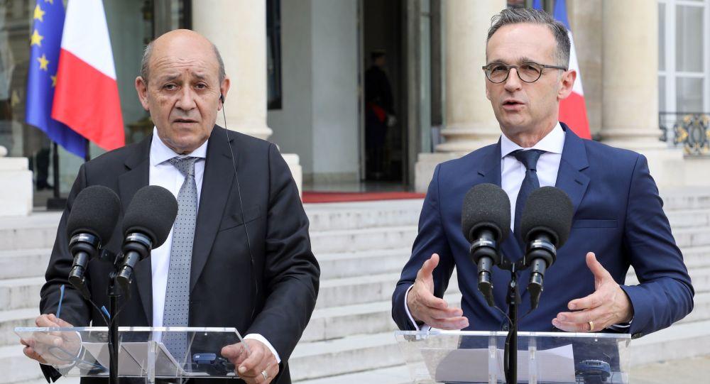 Los ministros de Asuntos Exteriores de Francia y Alemania, Jean-Yves Le Drian y Heiko Maas