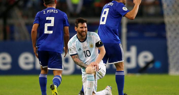 Lionel Messi durante el encuentro entre Argentina y Paraguay en la Copa América de Brasil, el 19 de junio de 2019