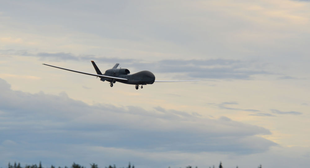 Aeronave no tripulada estadounidense RQ-4 Global Hawk