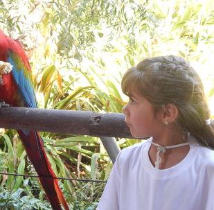 Visita del grupo rochense Tras las huellas del venado al Bioparque Temaikèn, en Buenos Aires, Argentina