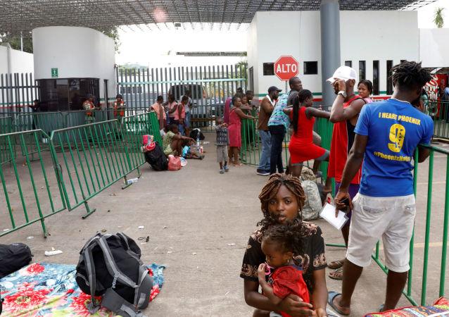 Migrantes en Tapachula, Chiapas
