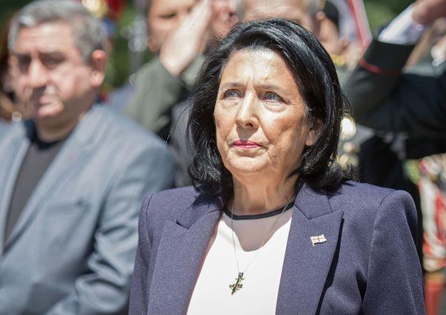 Salomé Zurabishvili, presidenta de Georgia